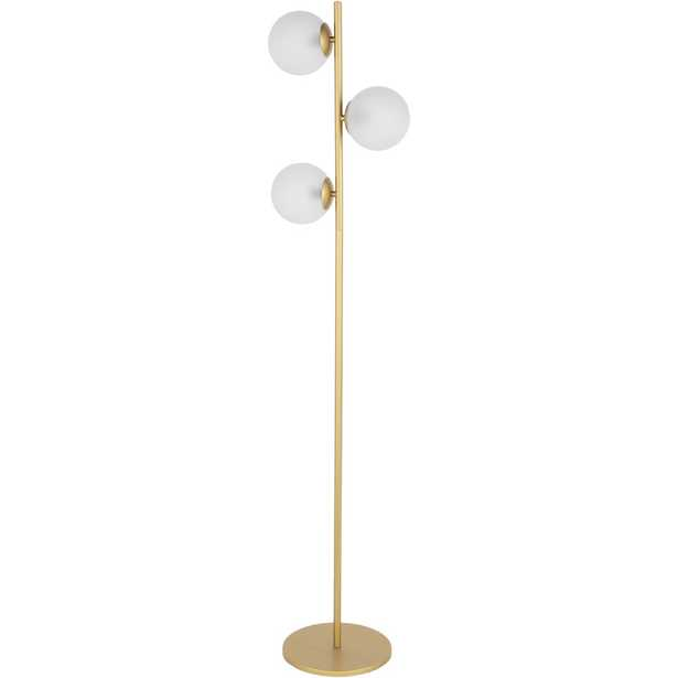 """Surya Jacoby Modern Gold Floor Lamp"" - Perigold"