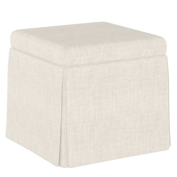 Quincy Storage Ottoman in Talc - Cove Goods