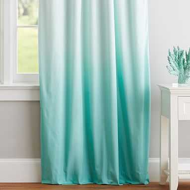 """Ombre Blackout Curtain - Set of 2, 108"""", Turquoise - Pottery Barn Teen"""