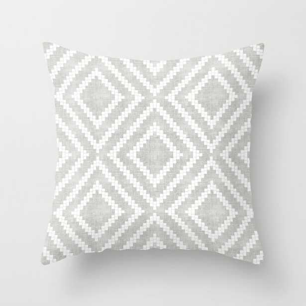 """Loom In Grey Couch Throw Pillow by Becky Bailey - Cover (18""""x18"""") with pillow insert - Outdoor Pillow - Society6"""