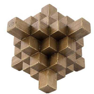 """Blaxcell 8"""" Geometric Table Décor - Gold - Wayfair"""
