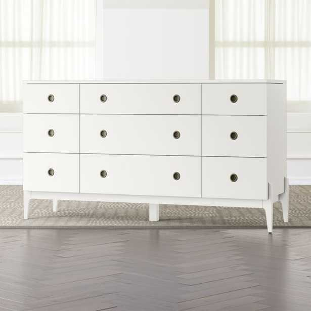 Kids Wrightwood White 9-Drawer Dresser - Crate and Barrel