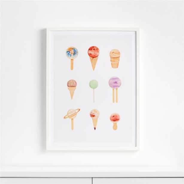 Planet Sugarium Framed Wall Art - Crate and Barrel