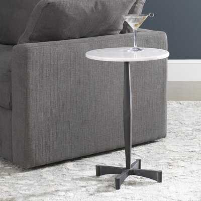 Lafontaine Marble Top Pedestal End Table - Wayfair