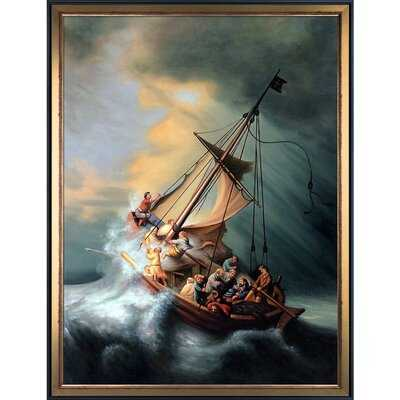 'Christ in the Storm' by Rembrandt - Picture Frame Print on Canvas - Wayfair