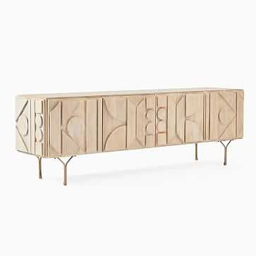 """Pictograph Console, Cerused White 84"""" - West Elm"""