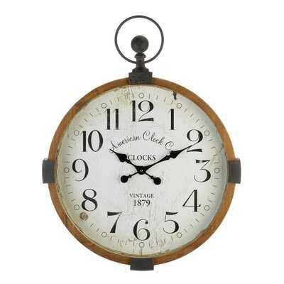 "Oversized Beldin 23.75"" Wall Clock - Wayfair"