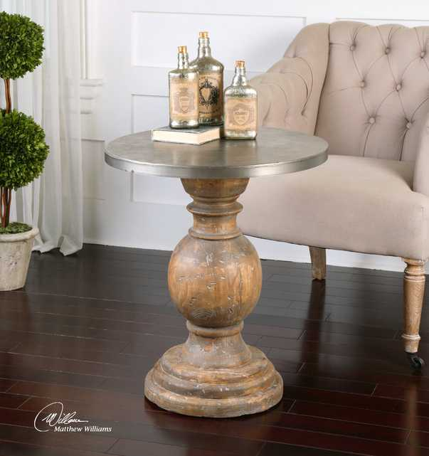 Blythe Wooden Accent Table - Hudsonhill Foundry
