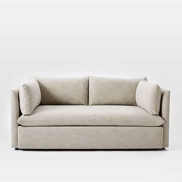 """Shelter 72"""" Sofa, Poly, Twill, Sand, Concealed Support - West Elm"""