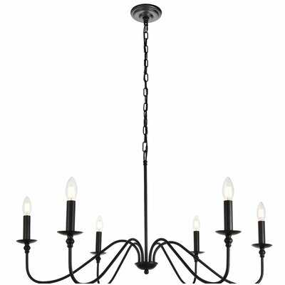 Ableton 6 - Light Candle Style Chandelier - Birch Lane