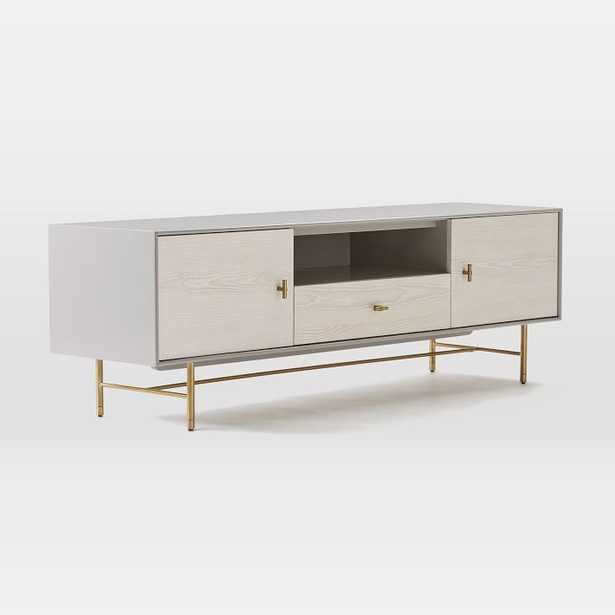 """Modernist Wood & Lacquer Media Console, Winter Wood, 68"""" - West Elm"""