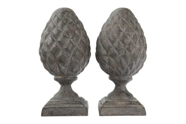 Resin Pinecone Finial Bookends - Nomad Home
