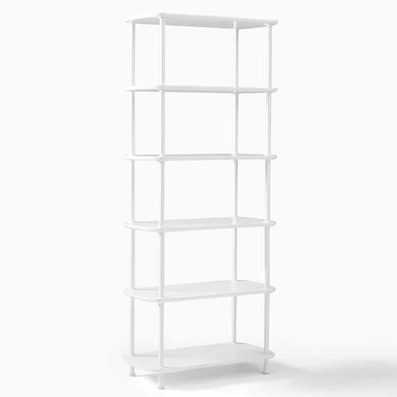 Wood Shelf Unit, Single, Metal & White - West Elm