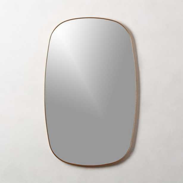 Infinity Brass Oblong Wall Mirror - CB2