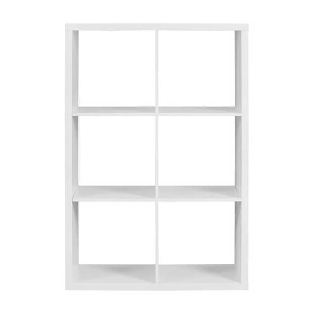 Linon Home Decor Dillon White 6- Cubby Storage Cabinet - Home Depot