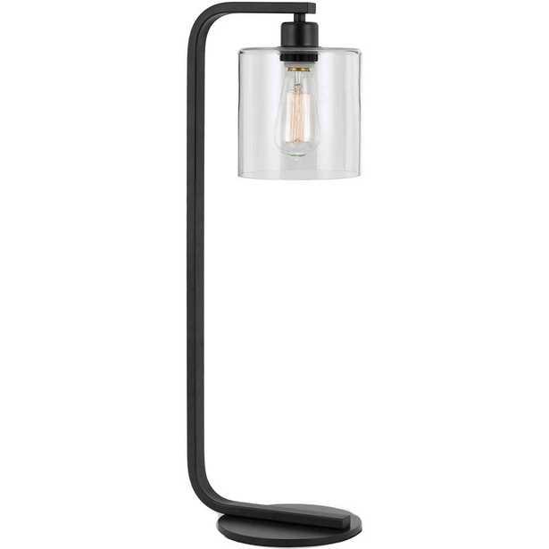 AF Lighting Lowell 25.5 in. Black Table Lamp - Home Depot