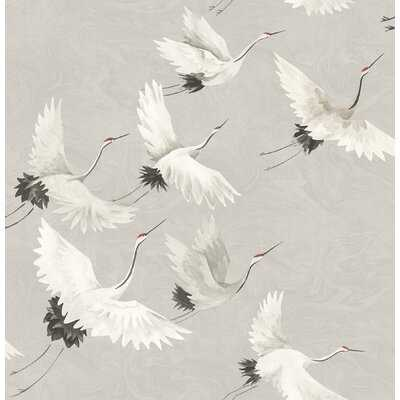 "Dion Windsong Crane 33' L x 21"" W Wallpaper Roll - AllModern"