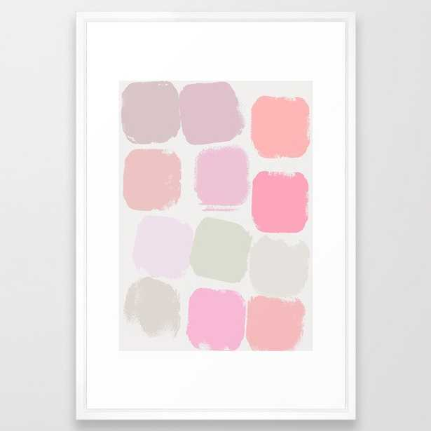 Pastel Framed Art Print by Georgiana Paraschiv - Vector White - LARGE (Gallery)-26x38 - Society6