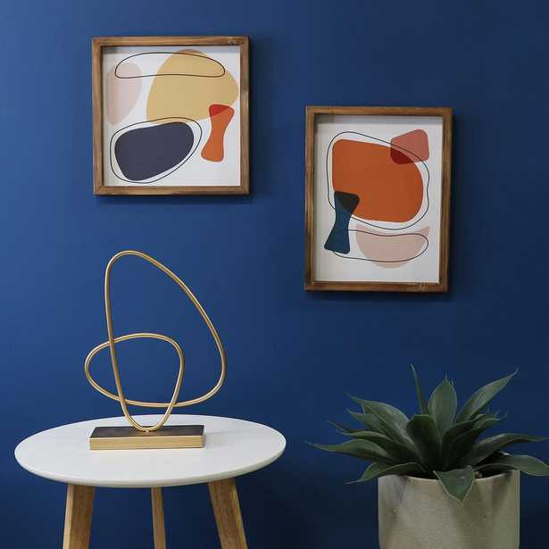 Stratton Home Décor Gold Abstract Tabletop Sculpture - Home Depot