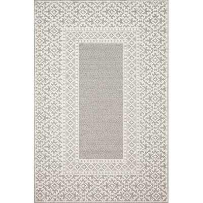 Mineola Ivory/Gray Indoor/Outdoor Area Rug - Wayfair