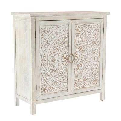 Sydni Traditional Carved Design 2 Door Accent Cabinet - AllModern