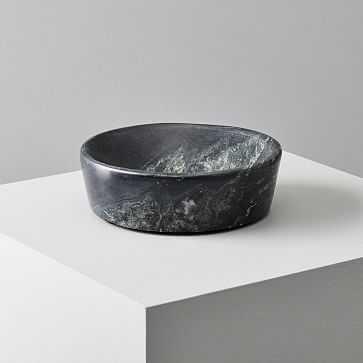 Pure Foundation Marble Bowl, Black - West Elm