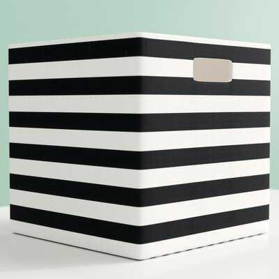Cube Stripe Fabric Polyester Bin - Wayfair