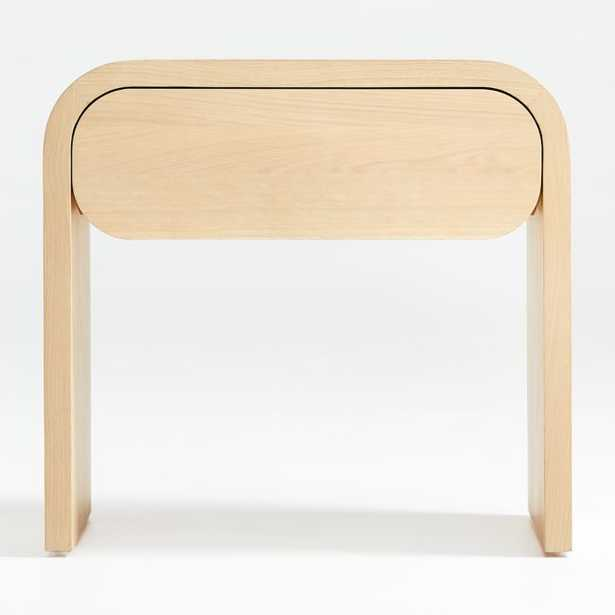 Cortez Natural Floating Nightstand - Crate and Barrel