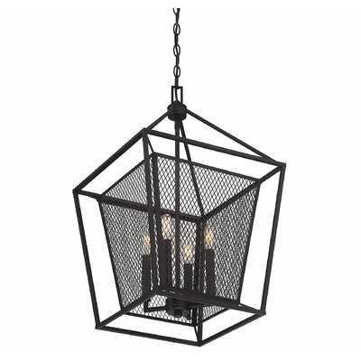 Wydra 4 - Light Lantern Square / Rectangle Pendant - Wayfair
