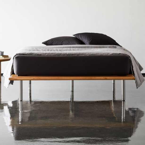 Simms Queen Natural Wood Platform Bed - CB2
