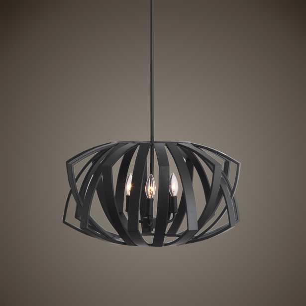 Thales Black Geometric 3 Light Pendant - Hudsonhill Foundry