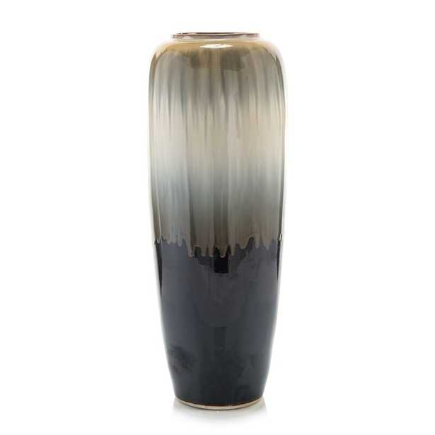 "John-Richard Gray/Cream 27.5"" Porcelain Floor Vase - Perigold"