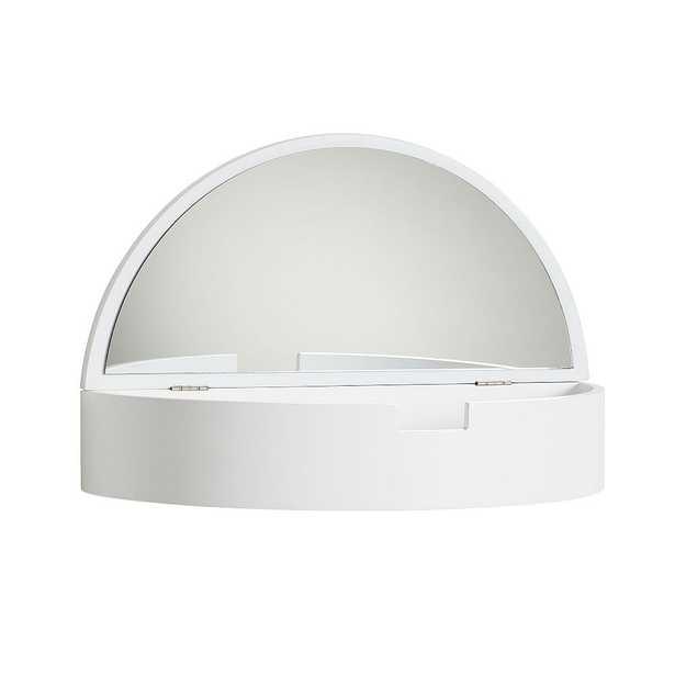 "Lane Storage Mirror Shelf, White, 16"" - Pottery Barn Teen"