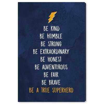 'Be a True Superhero' Framed Textual Art - Wayfair