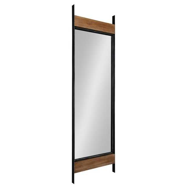 Kate and Laurel Kincaid 63 in. x 19 in. Rustic Brown/Black Decorative Floor Mirror - Home Depot