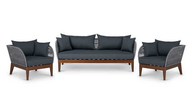 Kotelu Walnut Sofa Set - Article