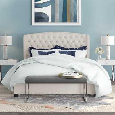 Hughes Queen Upholstered Platform Bed - Wayfair