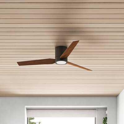 56'' Jezebel 3 - Blade LED Standard Ceiling Fan with Fan Control Parts and Light Kit - AllModern