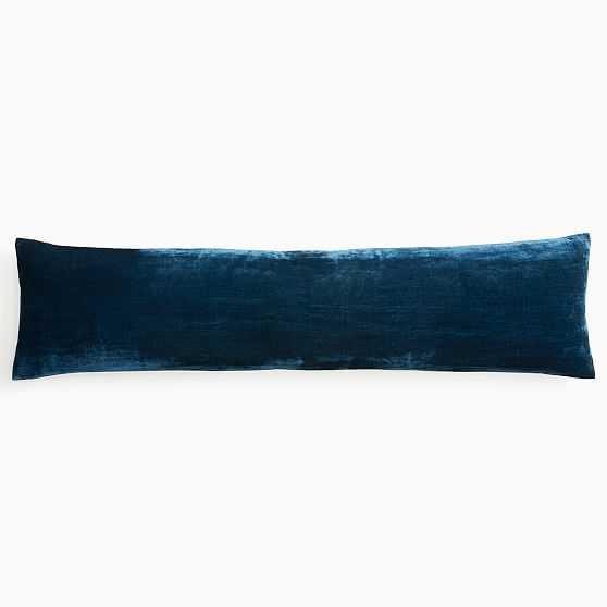 "Lush Velvet Pillow Cover, 12""x46"", Regal Blue - West Elm"