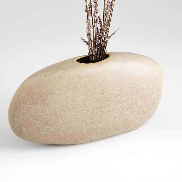 "Cyan Design Pebble Beige 6.25"" Ceramic Table Vase - Perigold"
