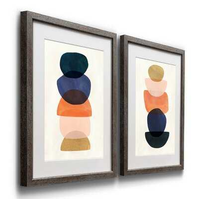 Mod Pods I - 2 Piece Picture Frame Painting Print Set on Paper - Wayfair