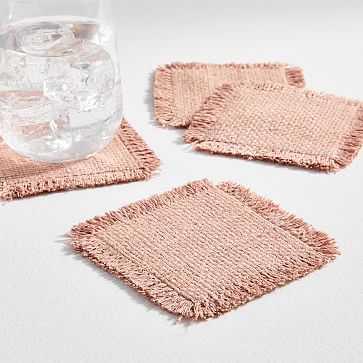 Silk Handloom Coasters, Set of 4, Rosette - West Elm