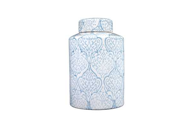 Blue & White Decorative Ginger Jar with Lid - Nomad Home