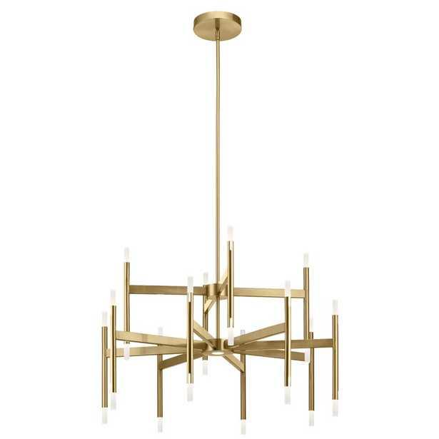 Élan Lighting 24 - Light Sputnik Modern Linear LED Chandelier Finish: Champagne Gold - Perigold