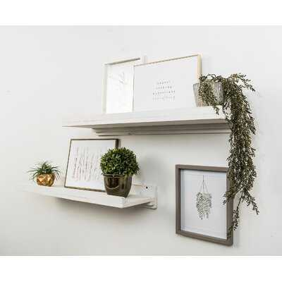 Fragoso 2 Piece Pine Solid Wood Floating Shelf - Wayfair