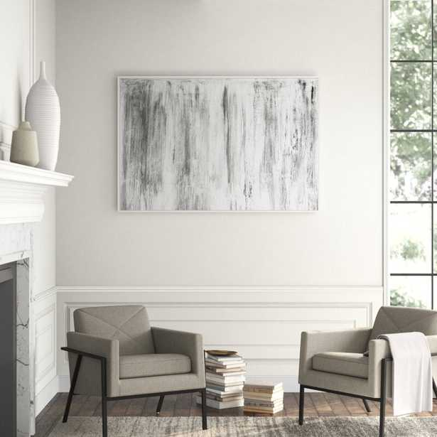 JBass Grand Gallery Collection 'Gray Mist' Framed Print on Canvas - Perigold