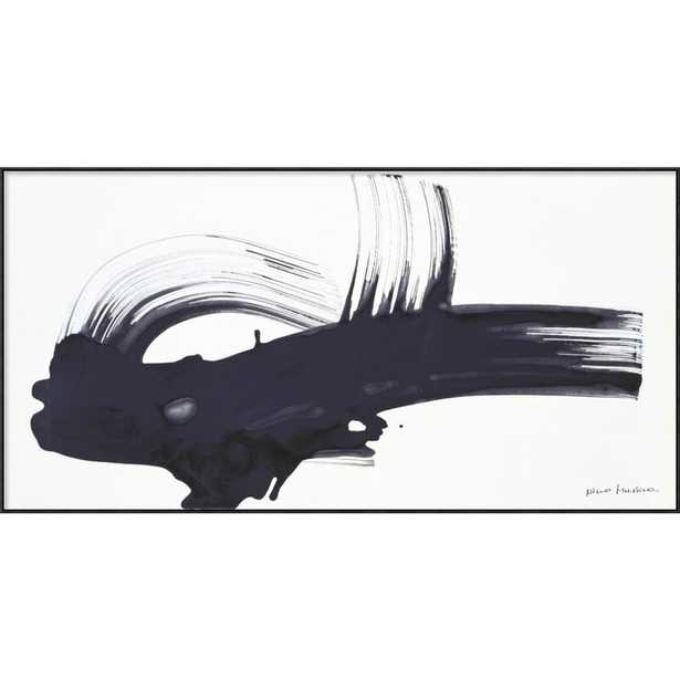 """Global Gallery 1996 Venerdi 26 Luglio Painting Print on Wrapped Canvas Size: 37"""" H x 73"""" W x 1.5"""" D, Format: Black Framed Canvas - Perigold"""