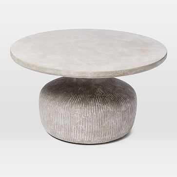 Tambor Concrete Coffee Table, Raw Concrete - West Elm