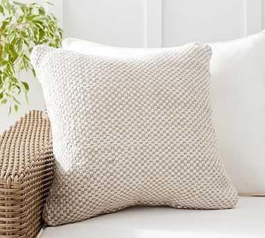 "Laverna Indoor/Outdoor Pillow , 20 x 20"", Neutral Multi - Pottery Barn"
