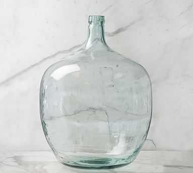 Recycled Glass Demijohn Vase, Clear, 50L - Pottery Barn
